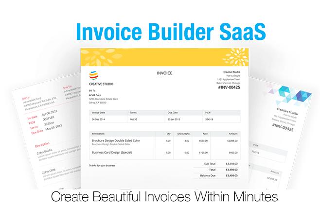 Invoice Builder SaaS Application GreatStealscom - Invoice builder